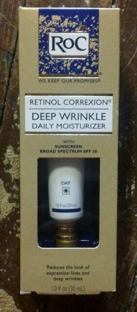 ROC Retinol Correxion DEEP WRINKLE Daily Moisturizer SPF 30 Day Cream Exp 2019+