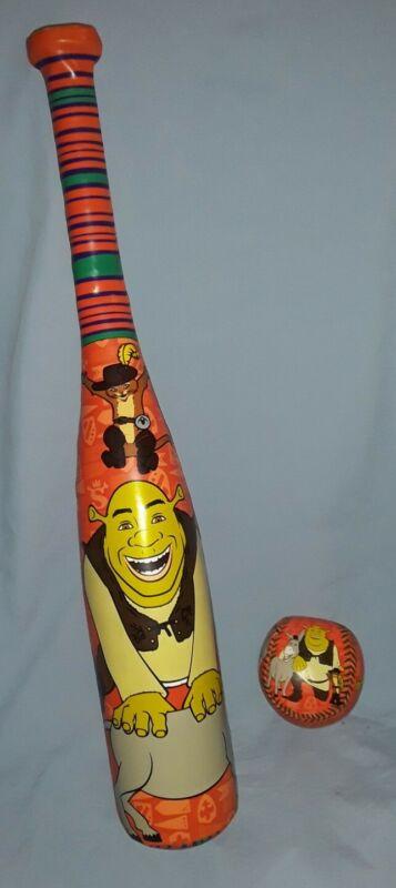 SHREK Childs Soft Baseball Bat & Ball Set, DreamWorks, 2007, Shrek the Third