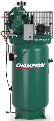 Champion 5 Hp 2 Stage 1 Phase 230 V Air Compressor Vrv5-8 Full Package Usa Made