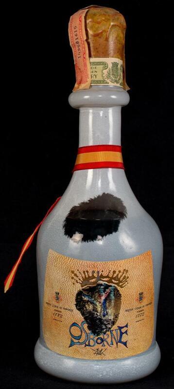 Osborne Brandy Bottle Designed by SALAVADOR DALI EMPTY