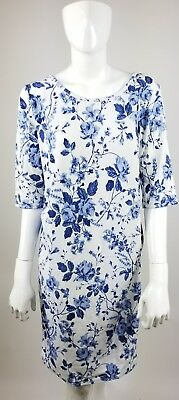 Pink Blush Maternity Dress Floral Blue White XL NWT PinkBlush