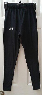 Women's UNDER ARMOUR Compression Leggings Pants Black Sz Medium Drawstring Waist