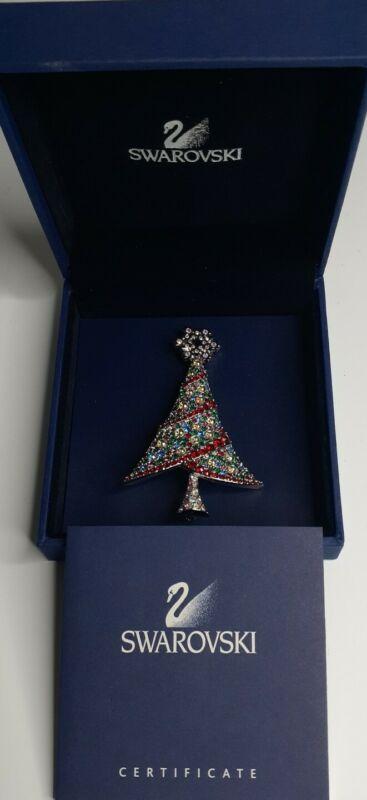 Swarovski 2004 Rockerfeller Center Christmas Tree Brooch Pin