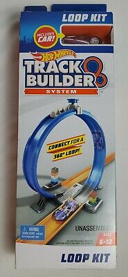 Hot Wheels Track Builder System Loop Kit Includes Purple Car NEW