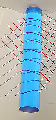 2 Diameter Clear Blue Acrylic Plexiglass Lucite Rod 6 Inch 5 78 Long