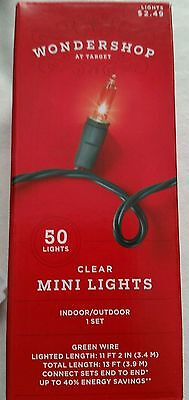 Christmas Holiday Clear Mini Lights Indoor or Outdoor 50 Count  ~ 11 ft  ()