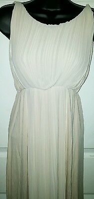 Women's MNG Suit XXS Beige Holiday Career Party Date Night Pleat Dress