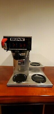 Bunn 3 Burner Commercial Coffee Maker Machine Cwtf15-3 Clean Working