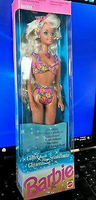 BARBIE DOLL - 1992 GLITTER BEACH BARBIE - BLONDE DOLL - NEW IN BOX