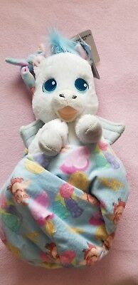 """Disney Parks 2017 Hercules Pegasus Baby Plush with Blanket Pouch 10"""" Babies NWT"""