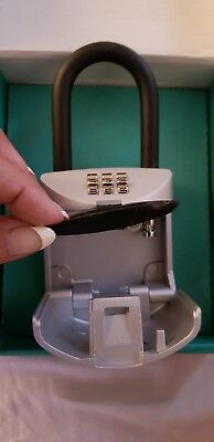 Lock Box 3 Digit Realtor Combination Hook Hanging Key Safe Home Security Guest