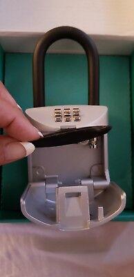 Lock Box 3 Digit Realtor Combination Hook Hanging Key Safe Home Security Guest