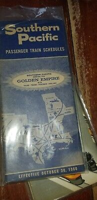 VINTAGE SOUTHERN PACIFIC IN plastic TIMETABLE passengers 1960