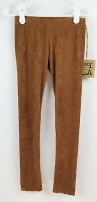 PPLA Girls Brown Suede Leggings Pants size 4x People's Project LA - Girls Brown Leggings