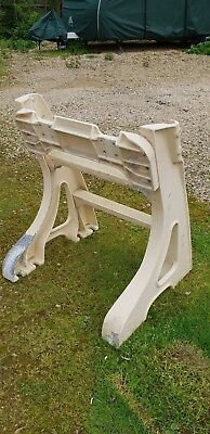 Vintage cast bench legs aluminium cast frame desk table stand garden bench seat