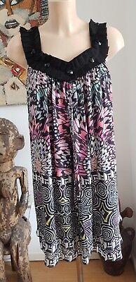 640ce8cf Mathew Williamson Tribal Floral Embellished Silk Dress Size 8 BNWOT RRP  £1095