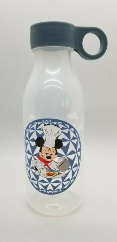 Disney Parks WDW EPCOT 2020 Food & Wine Chef MICKEY Plastic Water Bottle NEW TAG