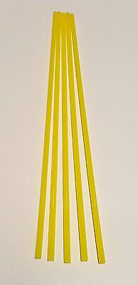 10 Pc 316 Diameter 12 Inch Long Yellow Acrylic Plexiglass Plastic Rod 14