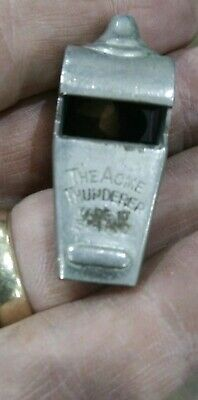 "Vintage Antique Chrome Plated Whistle ""The Acme Thundererer"" English"