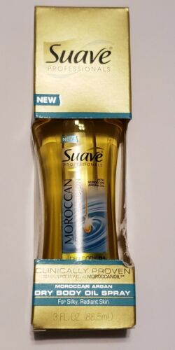 Suave Professionals Dry Body Oil Spray, Moroccan Infusion, 3