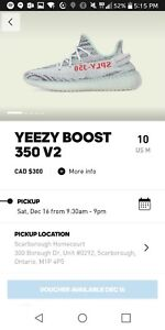 Brand new adidas yeezy boost blue tint - size 10 store pick up