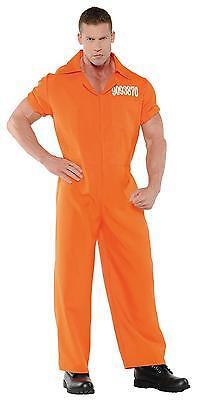 Erwachsene Dept Of Korrekturen - Convicted Gefangene Orange - Gefangener Kostüm Männlich