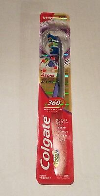 Colgate Purple Total360 4 Zone Whole Mouth Clean Man Toothbrush Soft - Free Ship