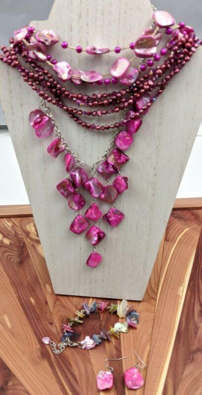 Baroque Pearl Shell Chip Lot Wear Resell Repurpose Necklace Bracelet Earrings