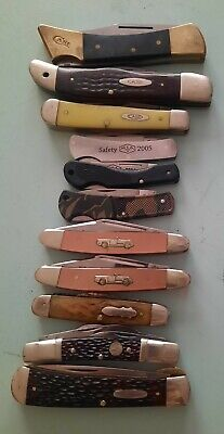 HUGE VINTAGE CASE KNIFE LOT 11 knives total CASE XX BOKER WESTERN AND OTHERSL@@K