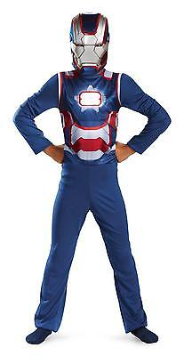 Iron Man 3 Patriot Costume & Mask for Boys size 4-6 & 7-8 New by Disguise 55640
