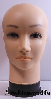 Mannequin Head PVC for display hat, wigs, photos