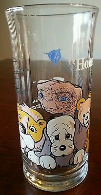 E.T. PIZZA HUT GLASS CUP Home Drinking Universal Studios Vtg 1982 L ike New FS