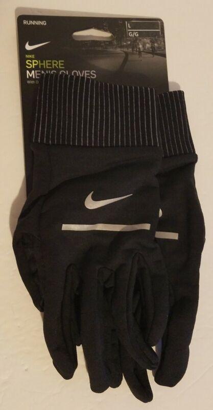 Nike Sphere Dri-Fit New w/Tags N0003798042 Mens Black Running Gloves Size L
