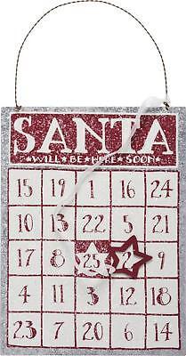 Galvanized Steel Magnetic Santa Bingo Advent Calendar