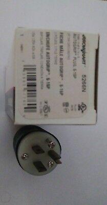 New Cooper Industrial Straight Blade Plug Nema 5-15 5-15p 15 Amp 125v 5266n Box