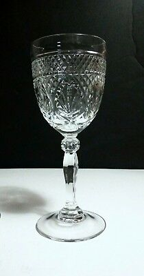"Cristal d' Arques Durand ANTIQUE Clear Knob Stem 7 3/8"" Wine Glasses ~ Set of 6"
