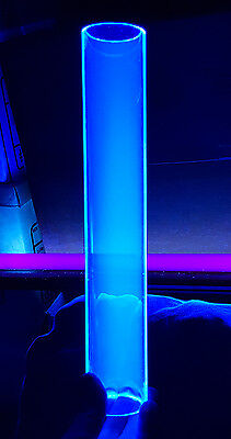 2 Od Diameter 1 34id 16 Long Clear Blue Fluorescent Acrylic Plexiglass Tube