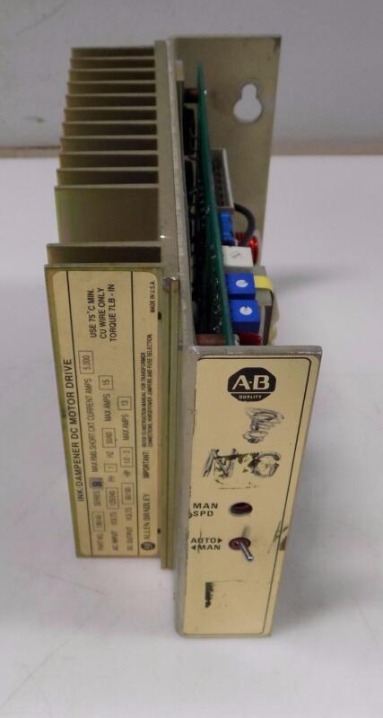 ALLEN BRADLEY INK/DAMPENER DC MOTOR DRIVE 136140 SER B