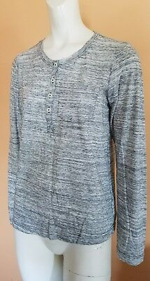 Women's Columbia Hiking Fishing Outdoor Button Long Sleeve Shirt SZ M Gray EUC