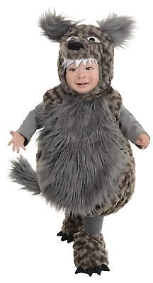 INFANT TODDLER PLUSH GREY WOLF COSTUME DRESS UR26107](Baby Wolf Costumes)
