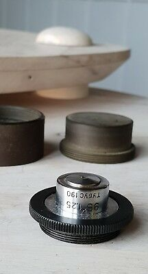 Soviet Vintage Objective Lens 95 X 1.25 190 For Microscope Lomo Zeiss Rms