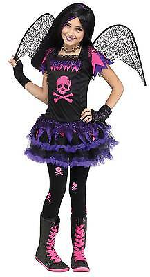 Pink Skull Fairy Costume for Girls size 4-6 New by Fun World 111262 (Fairy Costume For Teens)