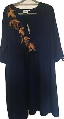 Junarose 20 Navy Mock Wrap dress