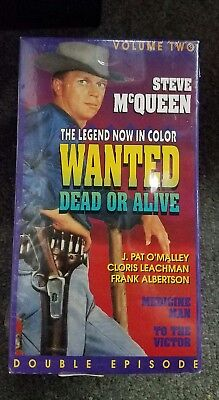 Wanted Dead or Alive VHS Steve McQueen To the Victor Medicine Man VOL 2