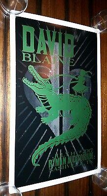 DAVID BLAINE Ryman HATCH SHOW PRINT Nashville 2017 Poster Magician Cards LIMITED