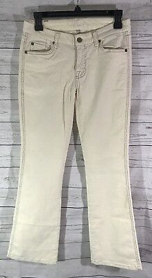 7 for All Mankind Jeans Womens Size 28 Corduroy Pants Bootcut Cream Ivory 7 For All Mankind Corduroys