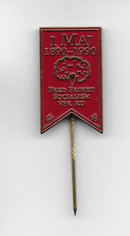 Swedish Communist Party VPK May 1990 KU Youth original metal pin Socialism Peace