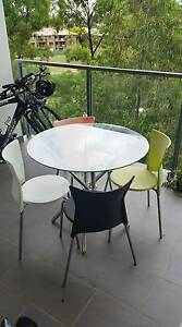 Glass table w/ four chairs Lutwyche Brisbane North East Preview
