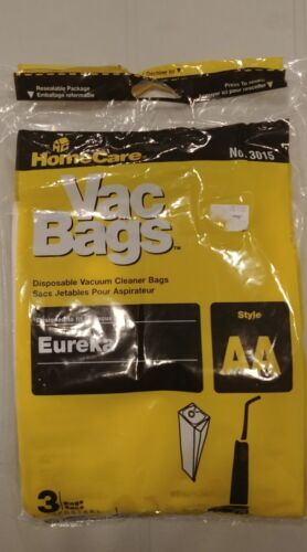HomeCare Disposable Vaccuum Cleaner Bags AA 3 Pack Eureka