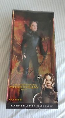 Mattel Barbie Collector Black Label Mockingjay Part 2 Katniss Doll (Damaged Box)